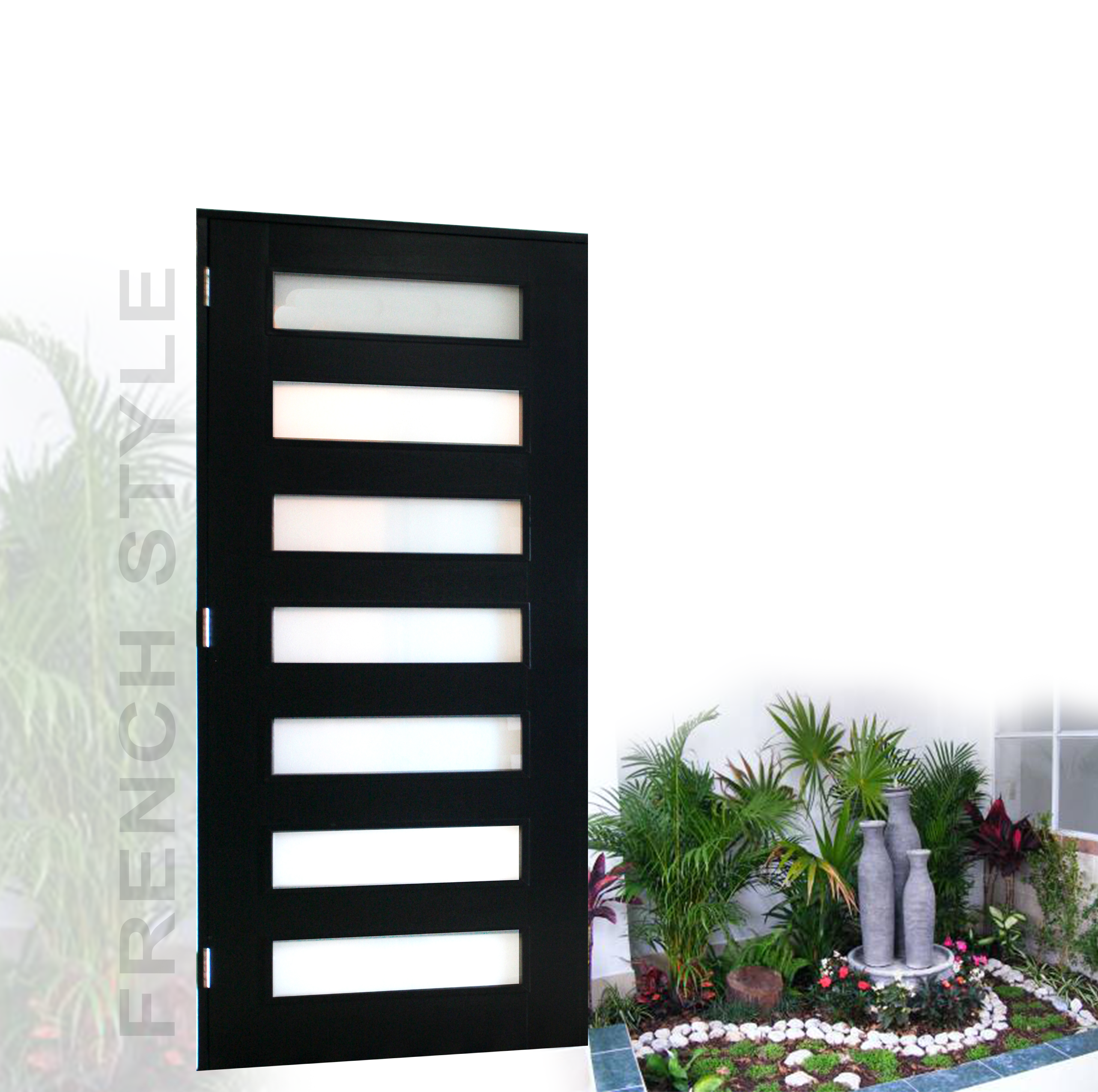 Puertas de madera modernas madecopr for Puertas en aluminio modernas